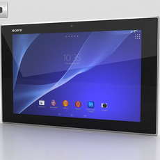 Sony Xperia Tablet Z2 White 3D Model