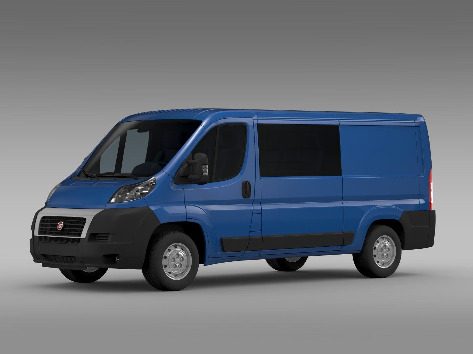 fiat ducato combi l2h1 2006 2014 3d model. Black Bedroom Furniture Sets. Home Design Ideas
