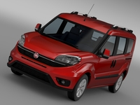 Fiat Doblo (152) 2015 3D Model