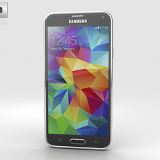 Samsung Galaxy S5 Blue 3D Model