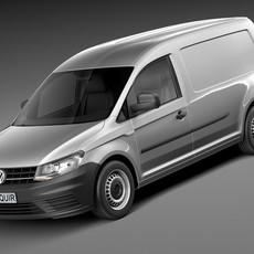 Volkswagen Caddy Maxi Van 2016 3D Model