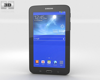 Samsung Galaxy Tab 3 Lite Black 3D Model