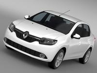 Renault Logan 2015 3D Model