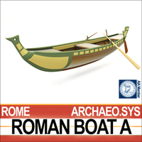 Ancient Roman Boat A 3D Model