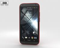 HTC Desire 601 Red 3D Model