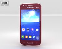Samsung Galaxy Ace 3 Red 3D Model