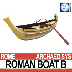 Ancient Roman Boat B 3D Model