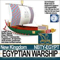 Ancient Egypt Warship Kepnet NK 3D Model
