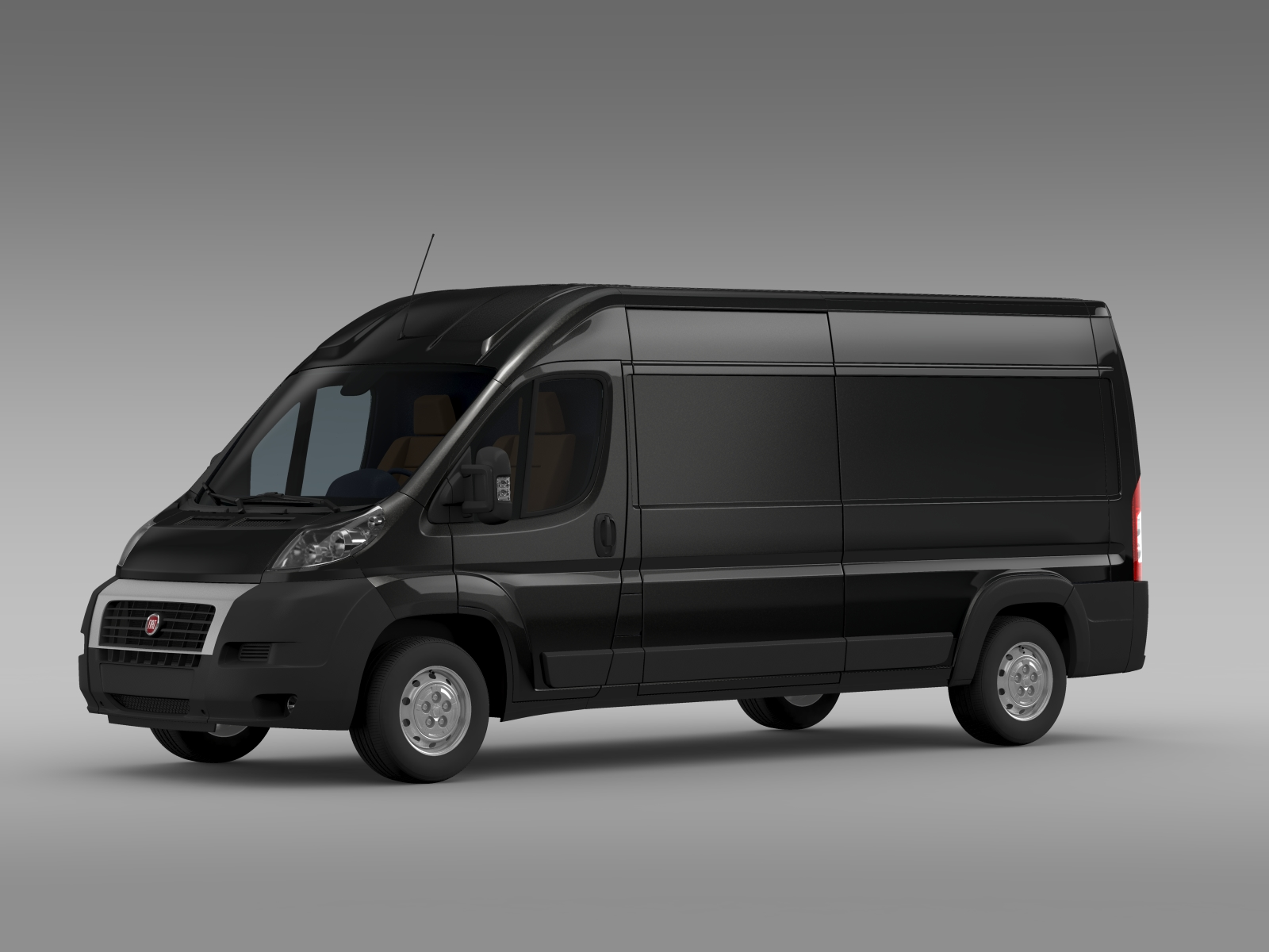fiat ducato maxi van l3h2 2006 2014 3d model. Black Bedroom Furniture Sets. Home Design Ideas
