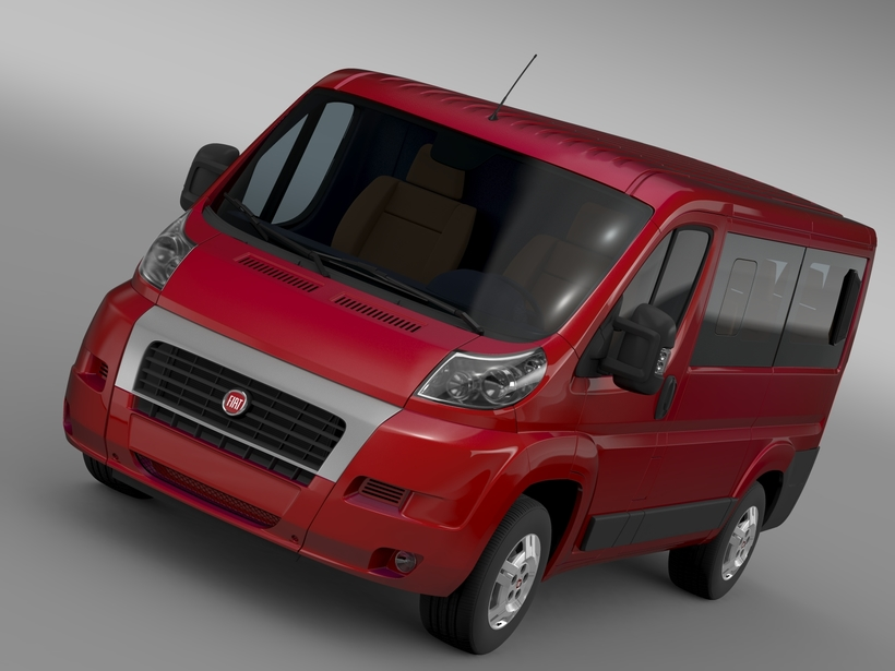 Fiat Ducato Mini Bus L1H1 2006-2014 3D Model