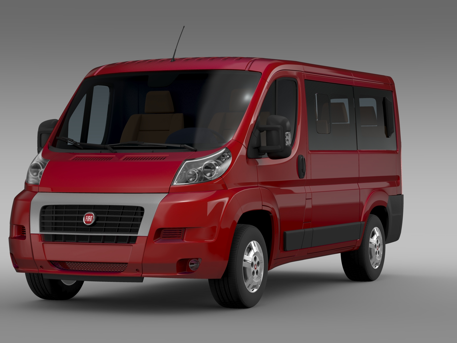 fiat ducato mini bus l1h1 2006 2014 3d model. Black Bedroom Furniture Sets. Home Design Ideas