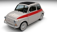 Fiat 500 Nuova Sport 1958 3D Model