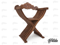 Savonarola chair 3D Model