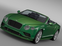 Bentley Continental GT Speed Convertible 2015 3D Model