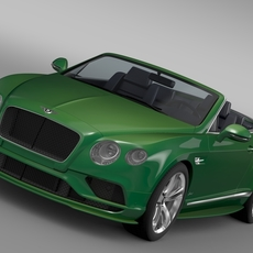 Bentley Continental GT Speed Convertible 2015 3D Model