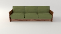 Olive Sofa 3D Model