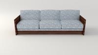 Retro Sofa 3D Model