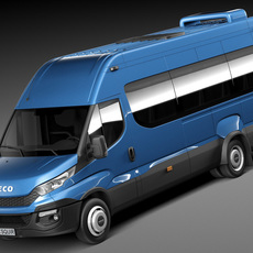 Iveco Daily Minibus 2015 3D Model