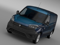 Ram ProMaster City Tradesman Cargo Van 2015 3D Model