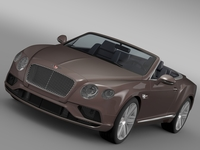 Bentley Continental GT V8 Convertible 2015 3D Model