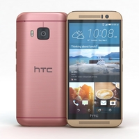 HTC One M9 Pink or Gold 3D Model
