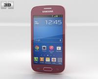 Samsung Galaxy Fresh S7390 Red 3D Model