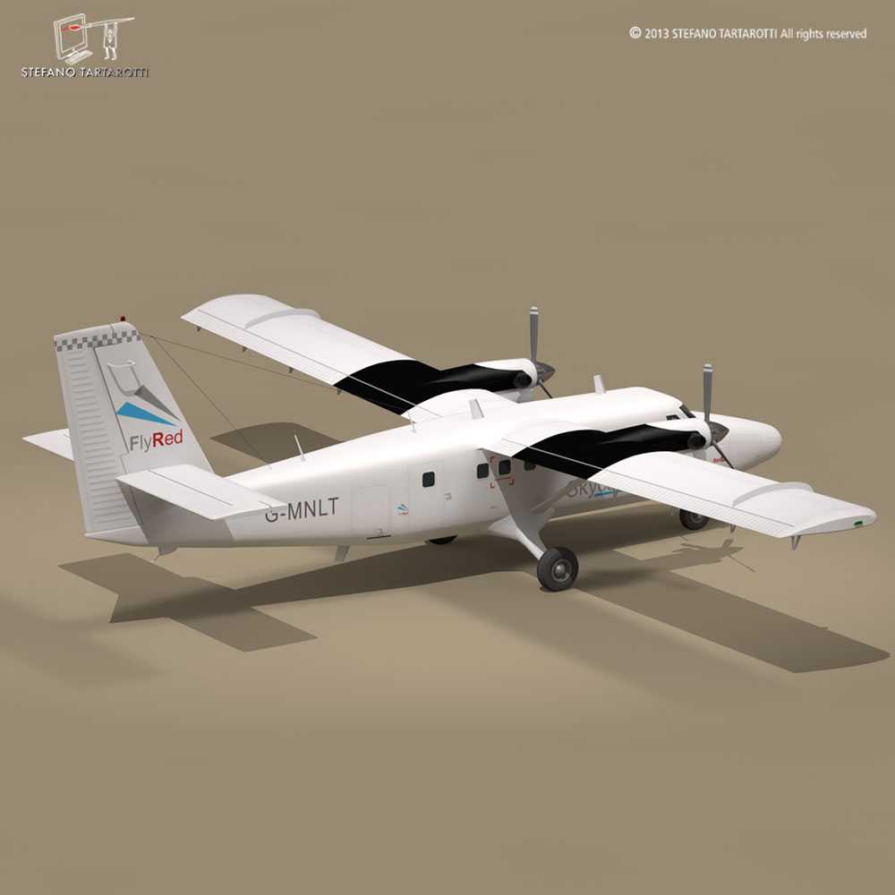 DHC6 Twin Otter 3D Model