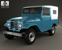 Toyota Land Cruiser (J20) softtop 1958 3D Model
