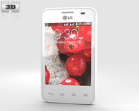 LG Optimus L3 II Dual E435 White 3D Model