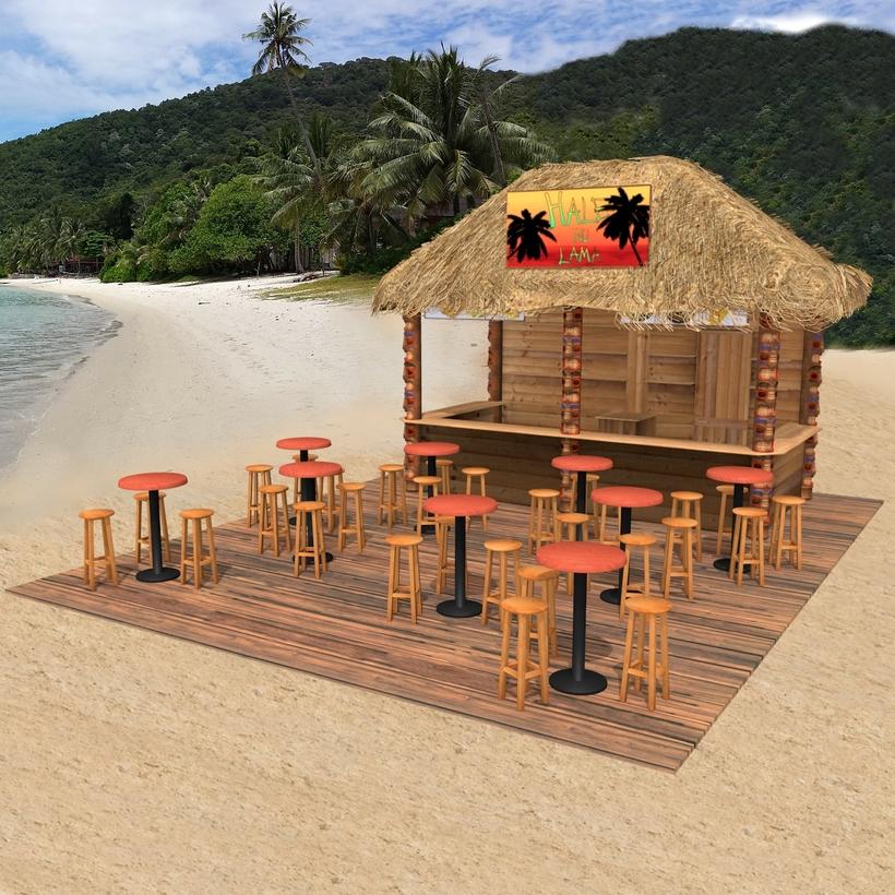 Kiosk On The Beach 3d Model