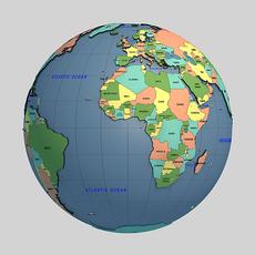 Globe 03 3D Model