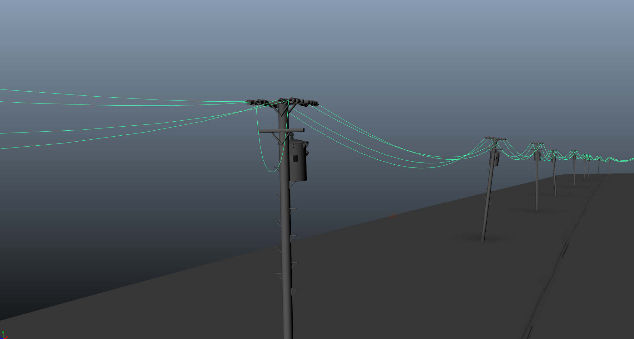 Hanging Photos On Wire lunar animation - hanging wire generator for maya - free dynamics