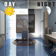 Bathroom 62 Day&Night 3D Model