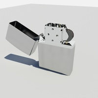 Wick Lighter 3D Model