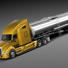 Kenworth T680 2015 Tanker 3D Model