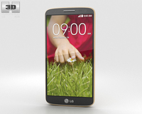LG G2 Mini Gold 3D Model