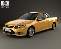 Ford FG Falcon XR6 UTE 2011 3D Model