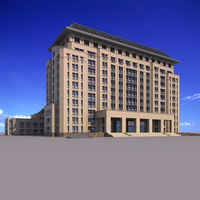 Classical office building 3D Model