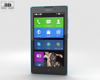 Nokia XL Cyan 3D Model
