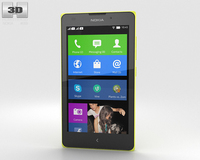 Nokia XL Yellow 3D Model