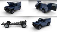 Full Land Rover Defender 90 Hard Top 3D Model