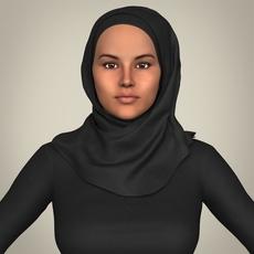 Realistic Islamic Woman 3D Model