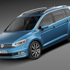 Volkswagen Touran 2016 3D Model