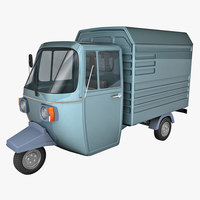 Auto Rickshaw Delivery Van 3D Model