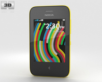 Nokia Asha 230 Yellow 3D Model