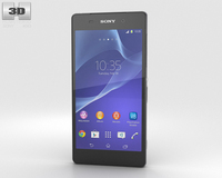Sony Xperia Z2 Black 3D Model