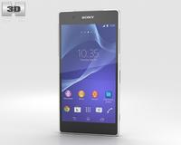Sony Xperia Z2 White 3D Model