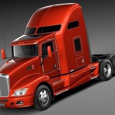 Kenworth T660 2015 semi truck 3D Model