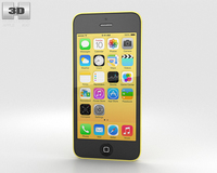 Apple iPhone 5C Yellow 3D Model