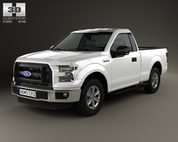 Ford F-150 Regular Cab XL 2014 3D Model